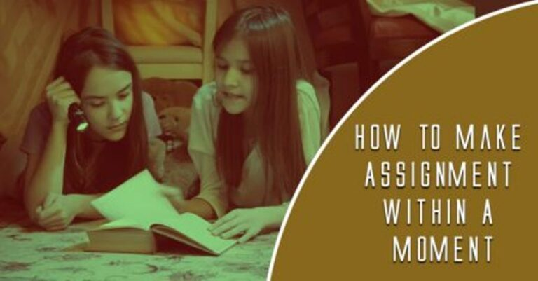 How to make assignment